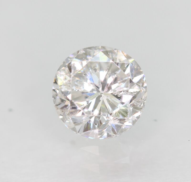 Certified 0.75 Carat D Color SI1 Round Brilliant Natural Loose Diamond 5.44mm