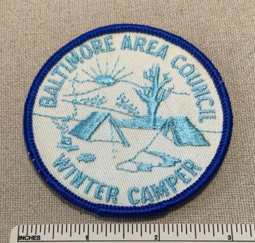 Vintage 1960s BALTIMORE AREA COUNCIL Boy Scout Winter Camper PATCH BSA Camp BAC