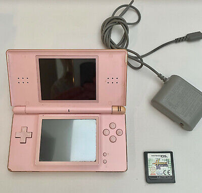 PINK NINTENDO DS LITE CONTROLLER BUNDLE WITH HANNA MONTANA GAME