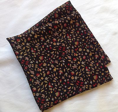 Bright leaves Liberty of London silk pocket square