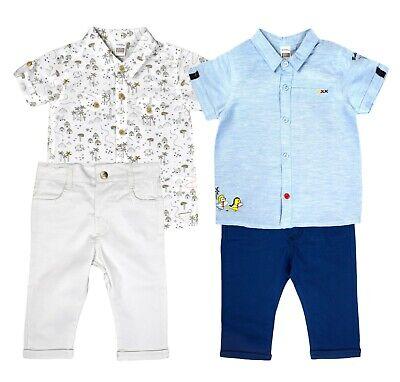BABY ANZUG JUNGS SET SAKKO SHIRT TOP CHINO HOSE SOMMER JUNGENANZUG OUTFIT KINDER - Jungen Anzug Set