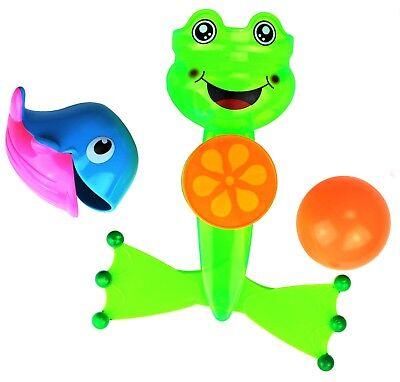 Badespielzeug für die Badewanne mit Ball Wal & Wasserrad Saugnapf  Spielzeug (Badewanne Spielzeug Ball)