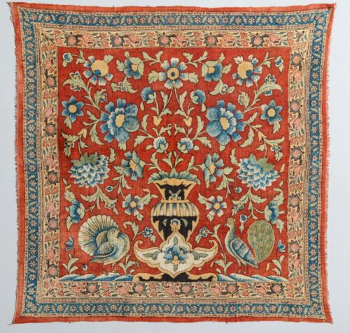 EXCEPTIONAL, STUNNING ANTIQUE KALAMKARI PALAMPORE HANDCRAFTED TEXTILE ART 1800s