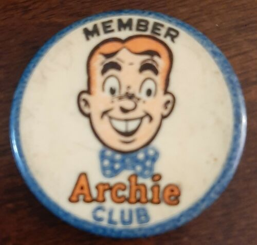 VINTAGE MEMBER ARCHIE CLUB PINBACK 1950