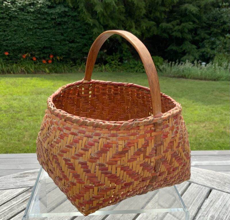 """Antique Cherokee Basket Nice Patina and Condition 8"""" x 7"""""""