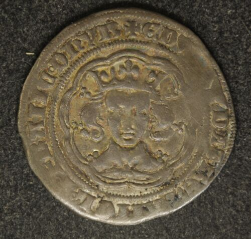 UK Great Britain Edward III Groat York Mint Pre-Treaty North 1164 Nicely Toned.