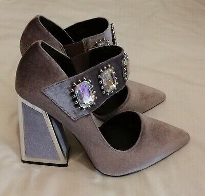 Kat Maconie Velvet High Heels Crystal Shoes Dusty Purple uk 5 eu 38