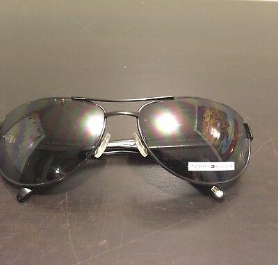 Name Brand Tommy Hilfiger Black Aviator Sun (Name Brand Glasses For Men)