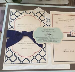 2 boxes of of invitations, rsvp, thank you cards (60)