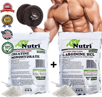 Creatine Monohydrate Powder+Pea Protein+Arginine HCL Powder Bundle Nutrition