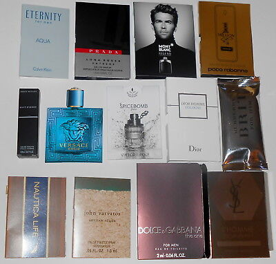 15 Mens Cologne Samples Lot Burberry Paco Rabanne Versace Dior YSL Prada D&G EDT