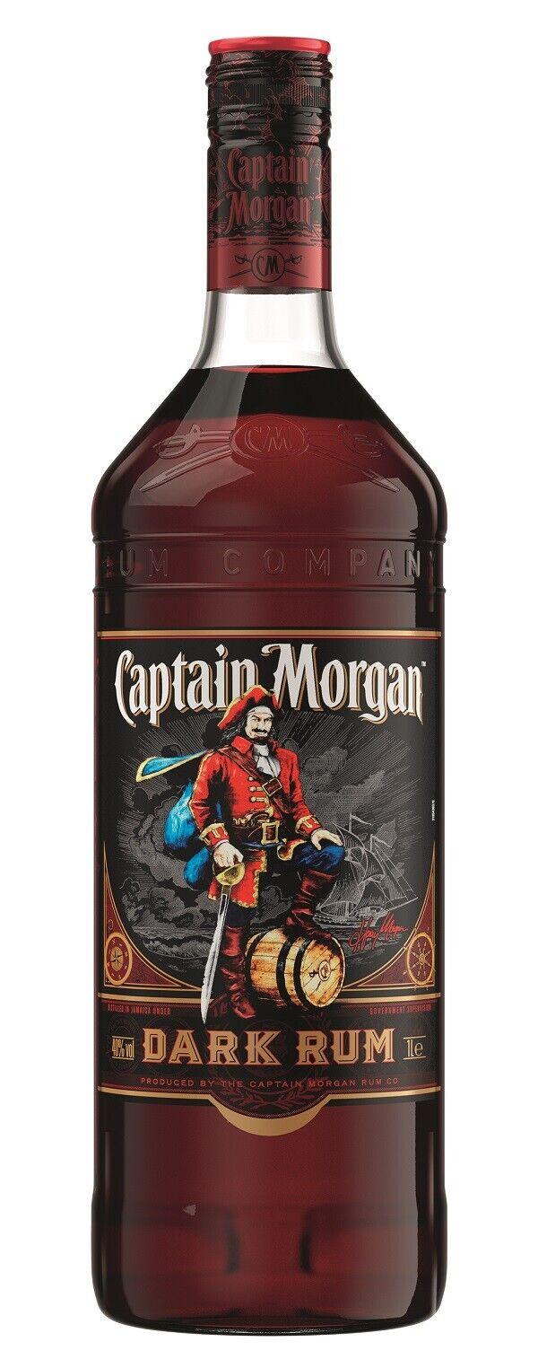 Captain Morgan Black Label Dark Rum 40% 1,0 Liter aus Jamaika