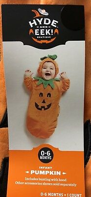 NWT Infant Baby Bunting Hyde and Eek Pumpkin Halloween Costume Size 0-6 months](Bunting Infant Halloween Costumes)