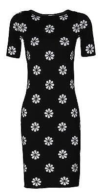 feminines Kleid Strickkleid 34 36 38 40 42 44 46 Cocktailkleid Blumen schwarz  online kaufen