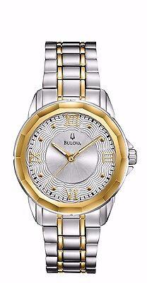Bulova Women's 98L166 Two Tone Quartz Stainless Steel Dress  Watch