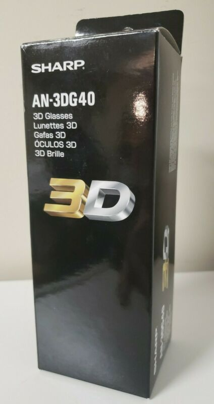 Sharp AQUOS AN3DG40 Active 3D Glasses (Black) - New Free Shipping