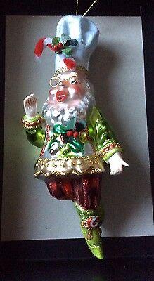 Mark Roberts Chef Baker Fairy Glass Christmas Ornament