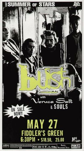 BUSH / VERUCA SALT 1997 DENVER CONCERT TOUR POSTER - Gavin Rossdale & Band