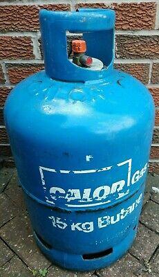 Calor Gas 15kg bottle. two-thirds full of butane + Calor Gas compact regulator