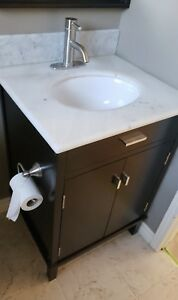 24-inch W Vanity with Marble Top including faucet   - $100