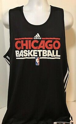 Chicago Bulls TEAM ISSUED adidas Reversible Practice Basketball Jersey NBA