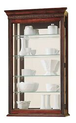 Howard Miller 685-104 (685104) Edmonton Curio Cabinet - Windsor Cherry