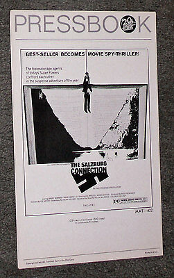 THE SALZBURG CONNECTION original 1972 movie pressbook BARRY NEWMAN/ANNA KARINA