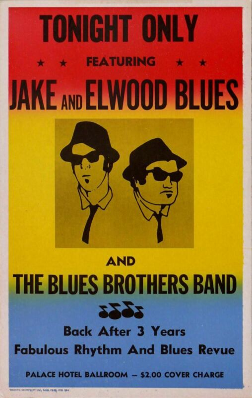 BLUES BROTHERS REPLICA CONCERT POSTER *FROM THE MOVIE*