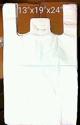 WHITE VEST JUMBO PLASTIC CARRIER BAGS 13