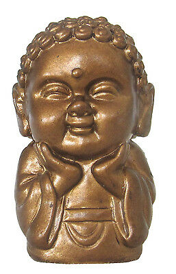 Pocket Buddha Happiness Gold Buddhism Figurine Toy