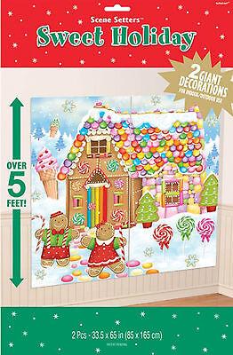 Weihnachten Lebkuchen Haus Wand Dekoration Szene Einstellung Hintergrund ()