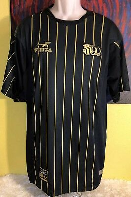 Men's Finta 2004 Ceara Sporting Club 90 Years Soccer Jersey Size XL Black/Gold image