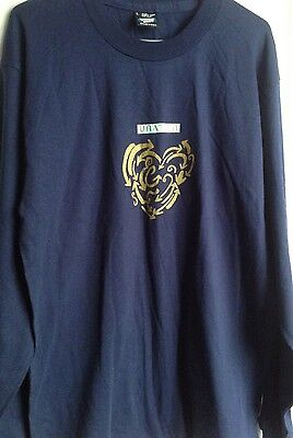 Unation Power Of Three   Blue Long Sleeved T Shirt   Vintage 1993