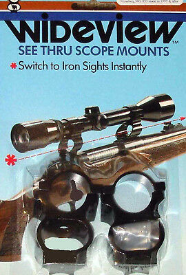 Wideview See Thru Scope Mount Mm Knight Lk 93 Disc Legend In Line More Listed