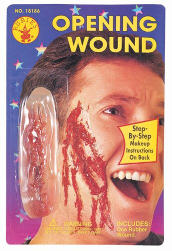 Bloody Open Wound Prosthetic Latex Wound Halloween Prop Cut Opening Blood Gash