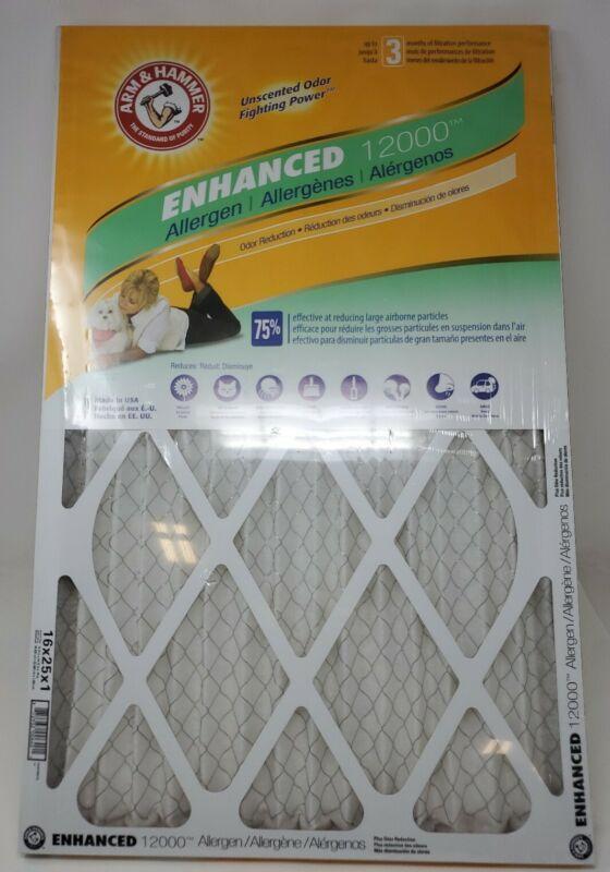 Arm & Hammer 16x25x1 Enhanced / Pet Fresh Air Filters (12 PACK)
