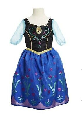 Disney Frozen Anna Light Up Musical Singing Dress Costume Size 4- 6x Ages 3+ New