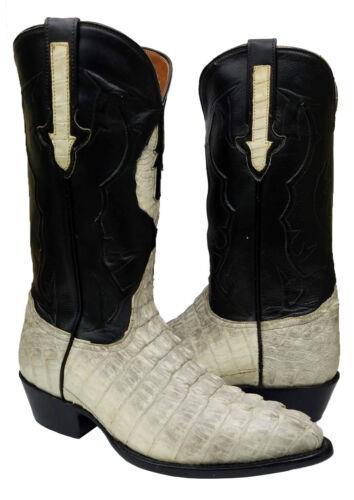 Mens, Natural, Exotic, Crocodile, Tail, Skin, Western, Dress, Cowboy, Boots, J, Toe, Size, 7