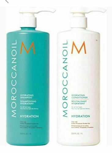 Moroccanoil Hydrating Hydration Shampoo Conditioner Duo 33.8oz / 1Liter New