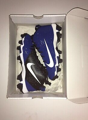 Nike Force Trout 5 Pro Keystone Baseball Cleat Size 6Y Gym Blue/White-Black