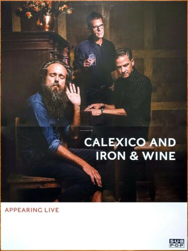IRON & WINE | CALEXICO Years To Burn 2019 Ltd Ed HUGE RARE New Tour Poster