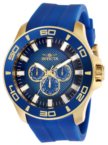 Invicta Men's Watch Pro Diver Quartz Analog Blue Dial Silico