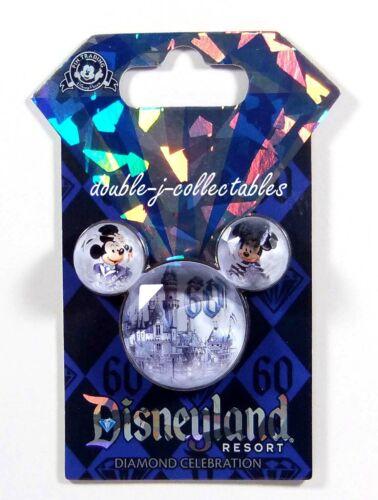 DLR Diamond Celebration 60th Anniversary Stone Icon Mickey & Minnie Disney Pin
