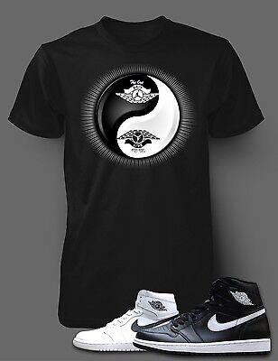 Tee Shirt to Match Air Jordan 1 Yin Yang Shoe Men Short Sleeve Pro Club T Shirt