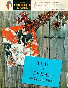 Texas-Football-Program-UT-Austin-Longhorns-vs-TCU-Horn-Frogsl-1968