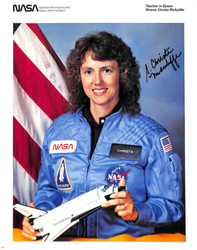 Christa McAuliffe Signed NASA Photograph: First teacher in space