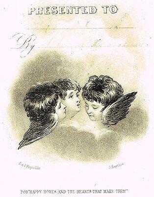 Sartains    Cherubim   For Happy Homes    Steel Engraving  1857