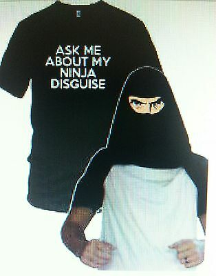 Ninja Face T Shirt Cool Ninja Disguise Funny Shirt - Cool Disguises
