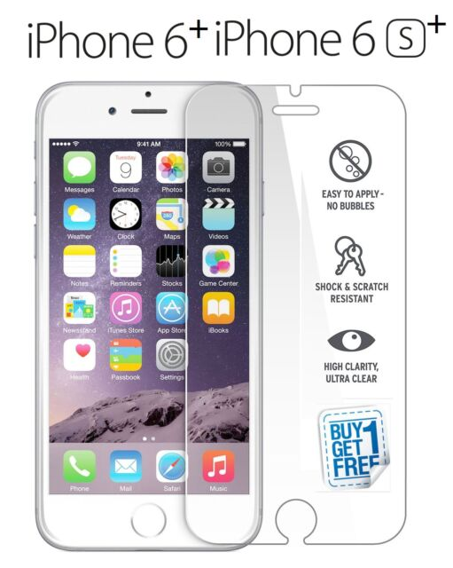 2PACK GENUINE Tempered GLASS Screen Protector For Apple iPhone 6S Plus & 6 Plus