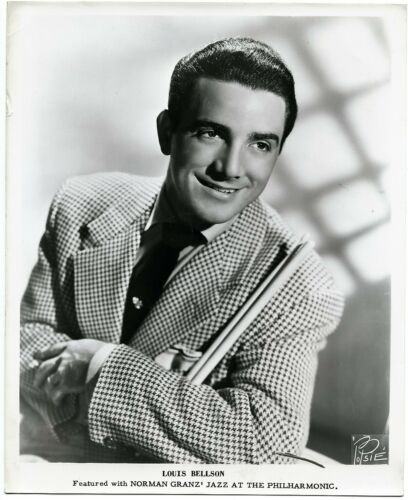 Drummer Louie Bellson  orig 1950s Jazz at the Philharmonic 8x10 promo photo